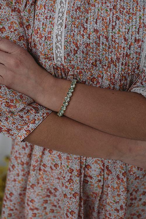 Gia Stud Bracelet Gold Chrysolite