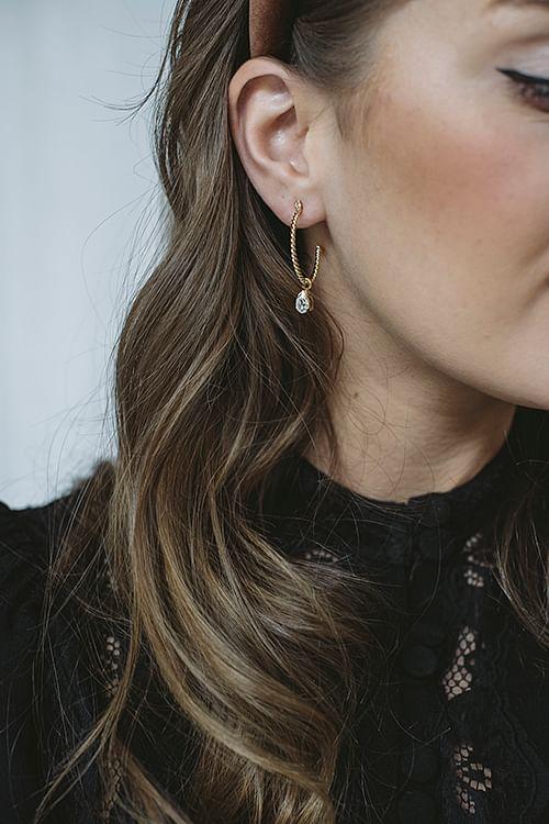 Caroline Svedbom Nani Earring Gold Crystal øredobber