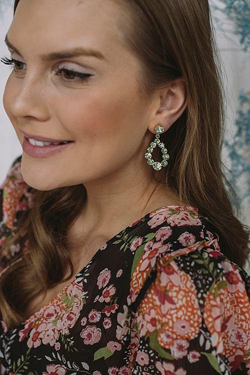 Caroline Svedbom Mini Delia Earring Gold Chrysolite/Peridot øredobber