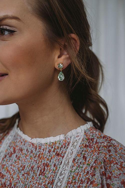 Mini Drop Earring Gold Chrysolite