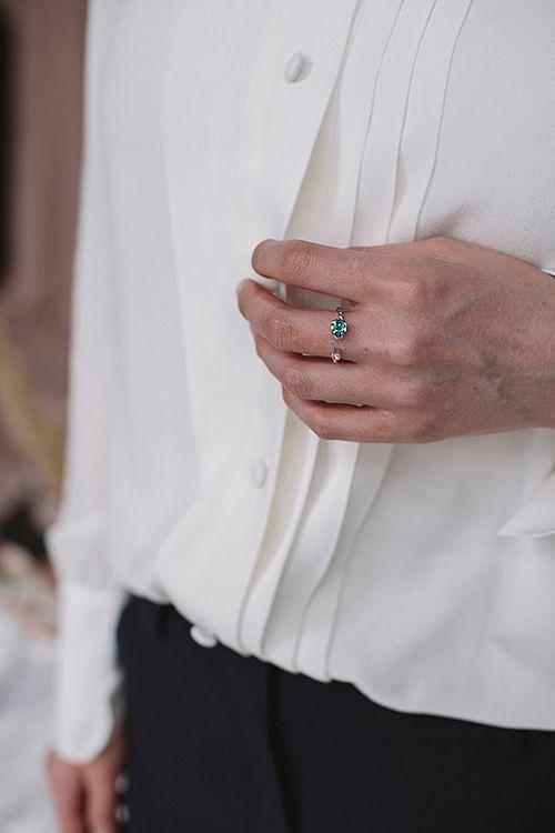 Caroline Svedbom Nani Ring Silver Light Turquoise