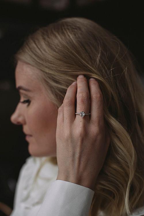 Caroline Svedbom Niki Ring Silver Rhodium Crystal