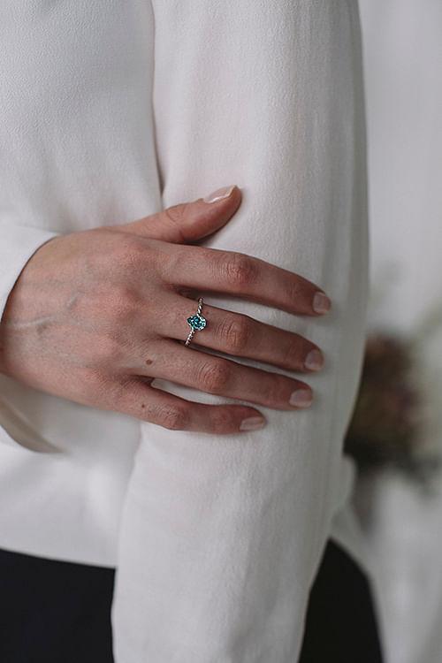 Caroline Svedbom Niki Ring Silver Light Turquoise