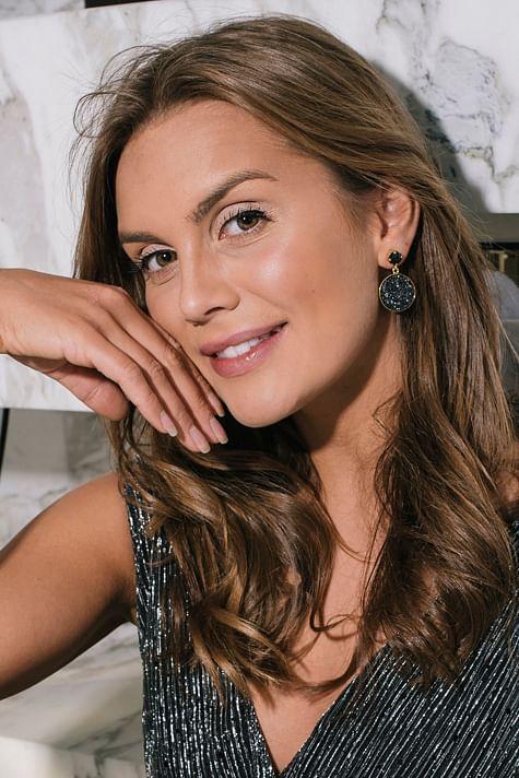 Chloe Earring Gold Graphite