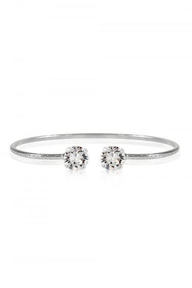 Classic Stud Petite Bracelet Rhodium Crystal