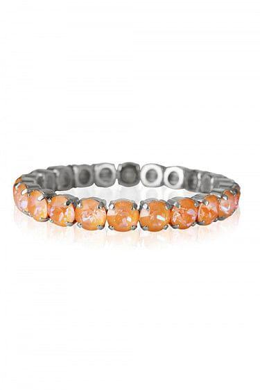 Gia Stud Bracelet Rhodium Peach Delite