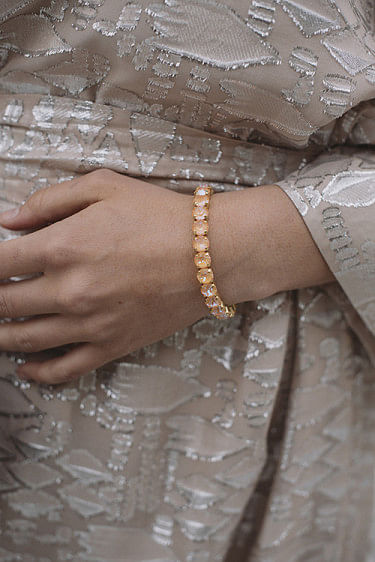 Gia Stud Bracelet Gold Peach Delite