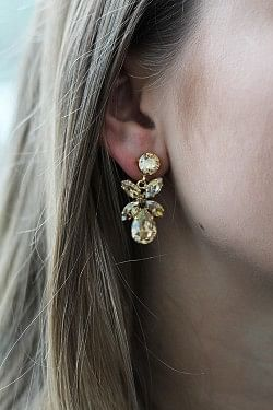 Mini Dione Earrings Golden Shadow