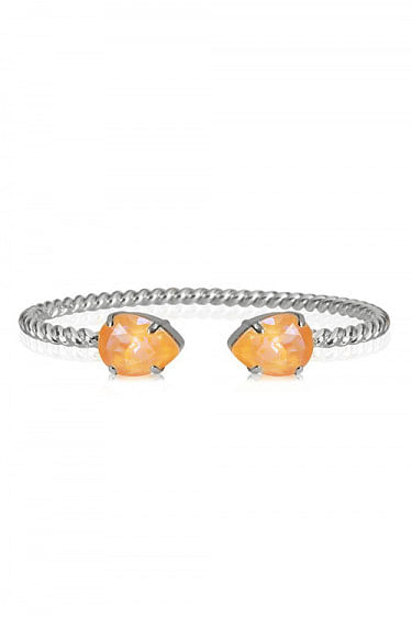 Mini Drop Bracelet Rhodium Peach Delite