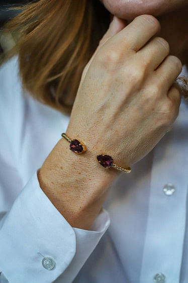 Mini Drop Bracelet Burgundy