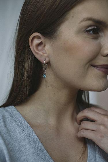 Nani Earring Silver Light Turquoise