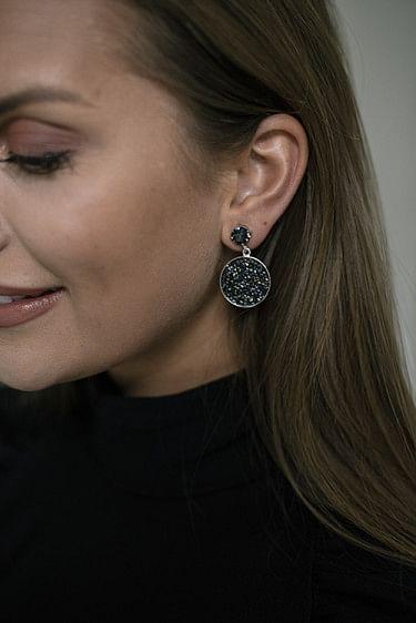 Chloe Earring Rhodium/Black