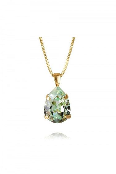 Classic Drop Necklace Gold Chrysolite