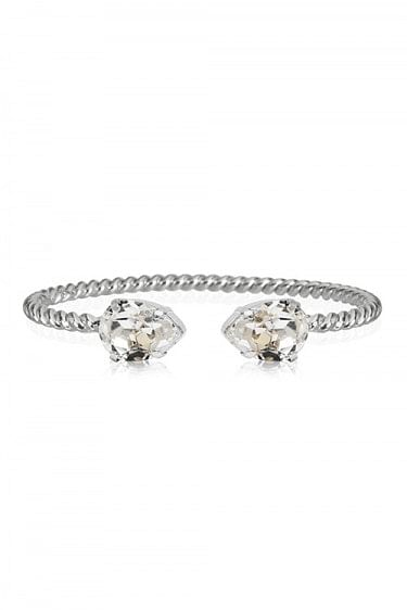 Mini Drop Bracelet Rhodium Crystal