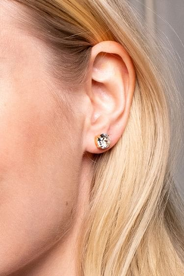 Classic Stud Earring Gold/Crystal