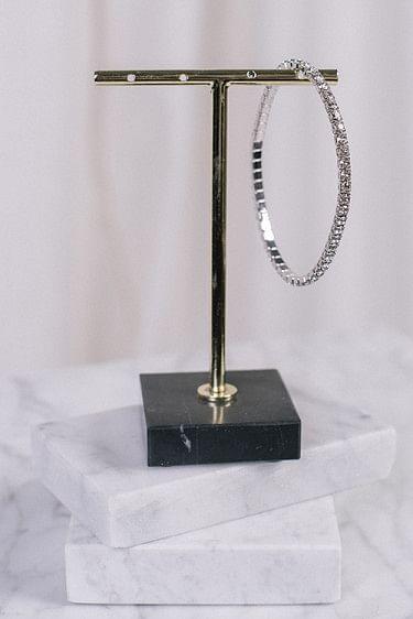 Eya Bracelet Rhodium Crystal