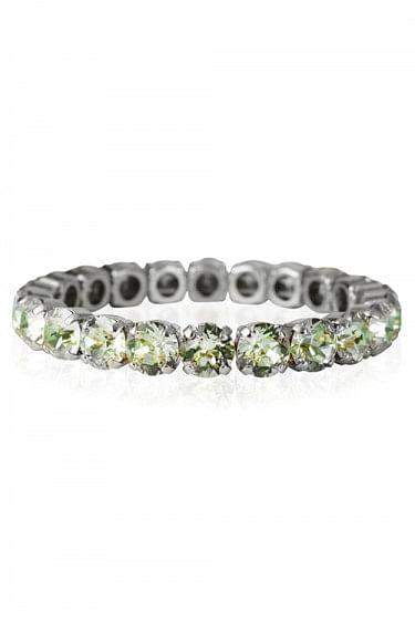 Gia Stud Bracelet Rhodium Chrysolite