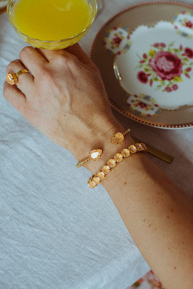 Mini Drop Bracelet Gold Peach Delite