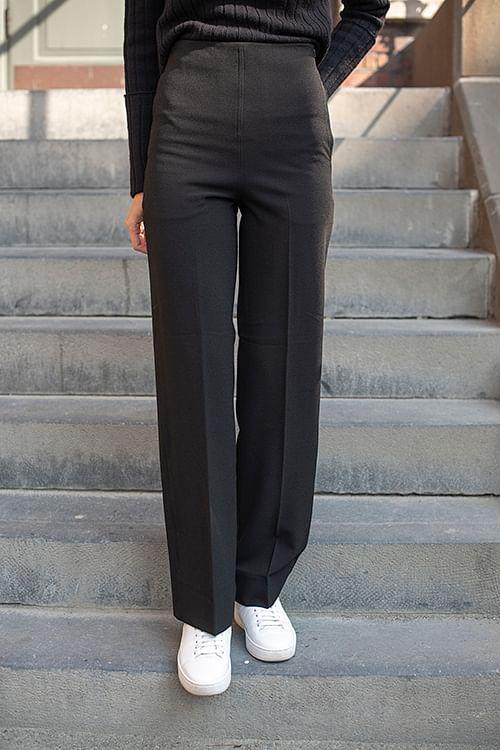 High Waist Pants Black