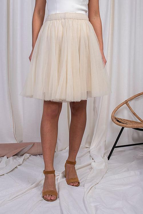 Cathrine Hammel Classic Tulle Skirt Off White skjørt