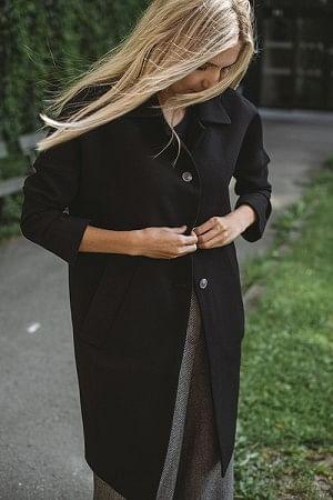 Cocoon Overcoat Black