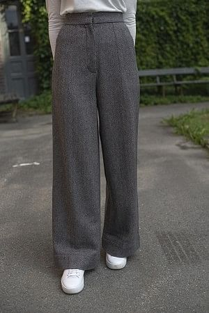 Herringbone Wide Leg Pants