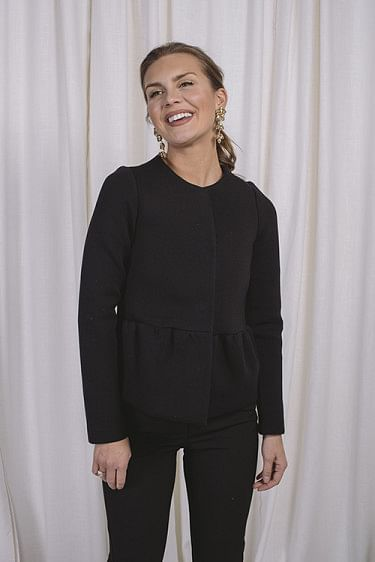 Peplum Jacket Black