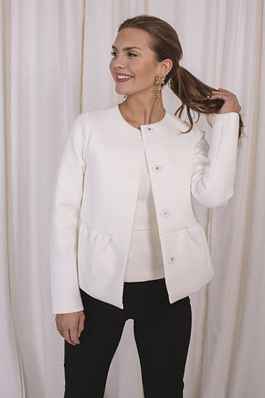 Peplum Jacket Cream