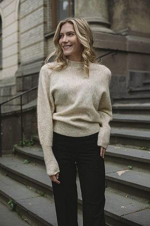 Soft Rounded Sweater Faune Melange