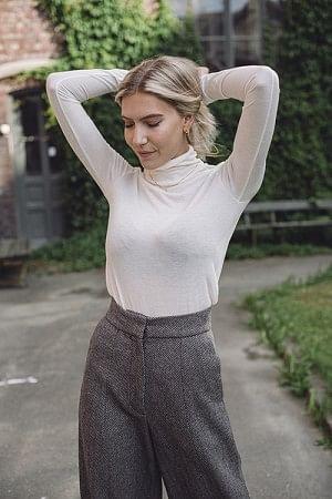 Wool Turtleneck Off White