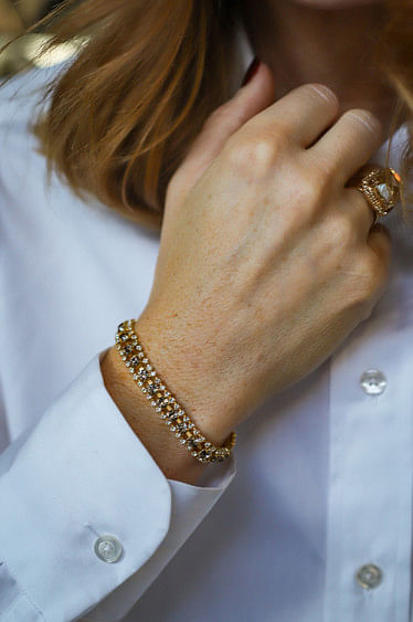 Perfect Trio Bracelet Grey/Crystal