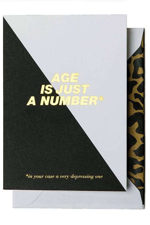 Cardsome Age is Just a Number * Black/White kort