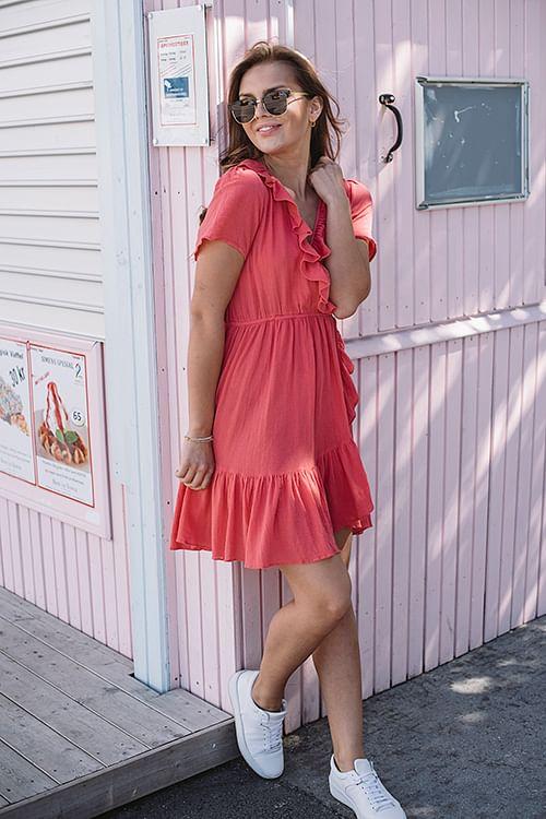 Confettibird Bohemian Wrapsody Coral kjole