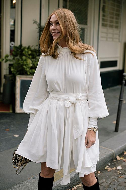 Confettibird Cocktail Bird Dress Off White kjole