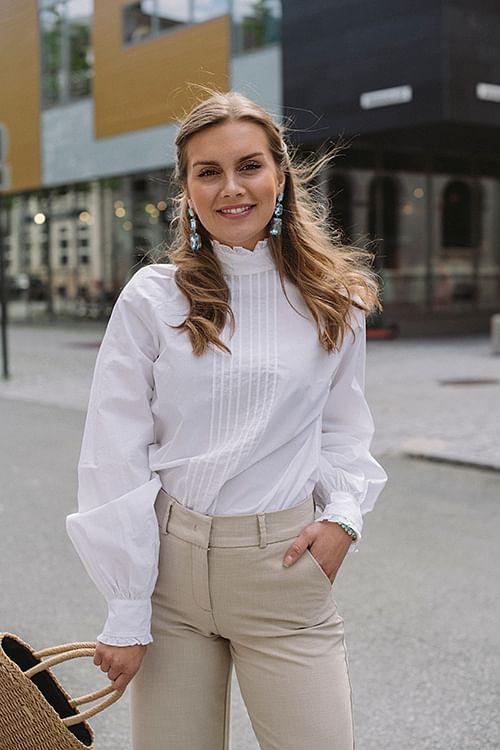 Custommade Elise Shirt White skjorte