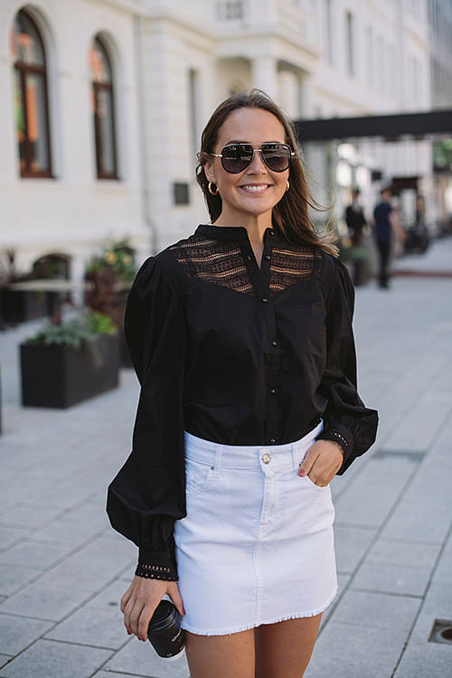 Custommade Ellena Shirt Black skjorte