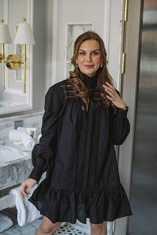Custommade Kjole Elorie Anthracite Black | Festkjoler