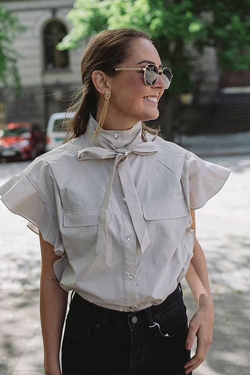 Custommade Linora Shirt Pumice Stone skjorte topp