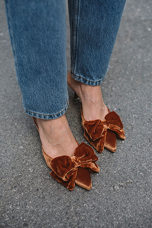 Marin Velvet Mules Indian Tan Khaki