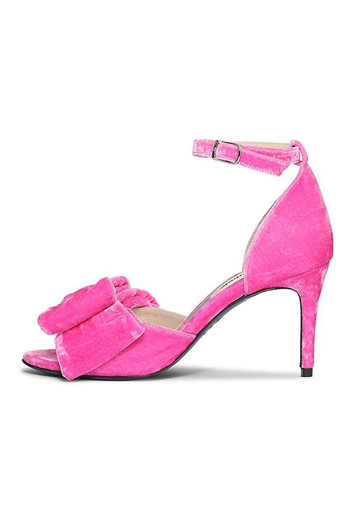 Custommade Marita Velvet Sandals Fuchsia Pink