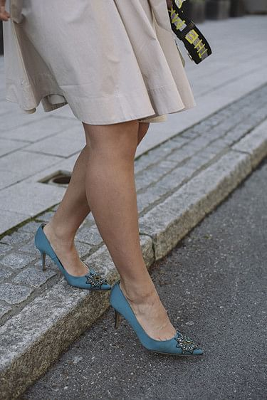 Aljo Crystal Pumps Teal