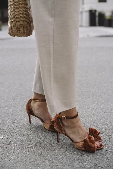 Marita Velvet Sandal Indian Tan Khaki