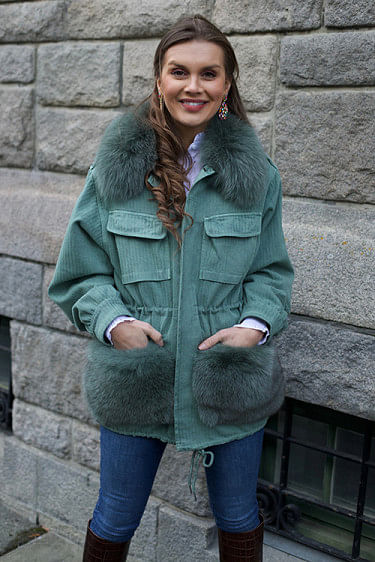 Windie Jacket Laurel Wreth Green