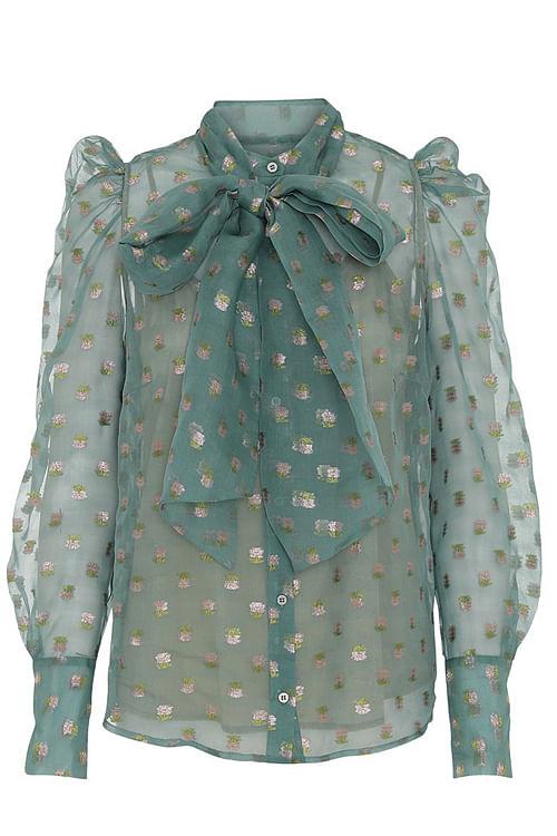 Custommade Zofja By Nbs Shirt Chalk Green bluse