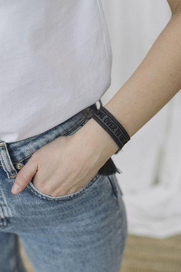 Woven bracelet charcoal
