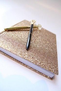 Glitter Notebook Gold