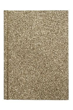 Glitter Notebook A6  Gold