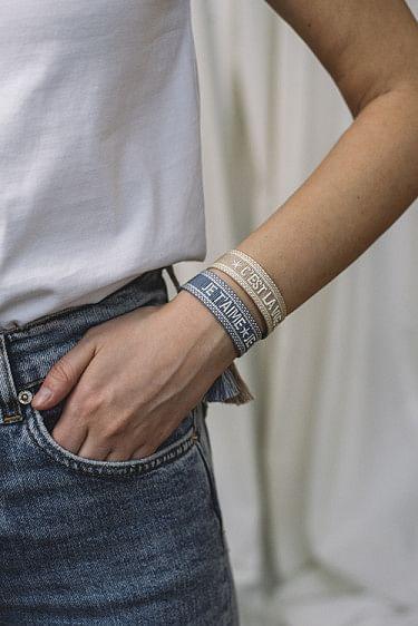 Woven Bracelet C´est La Vie Beige