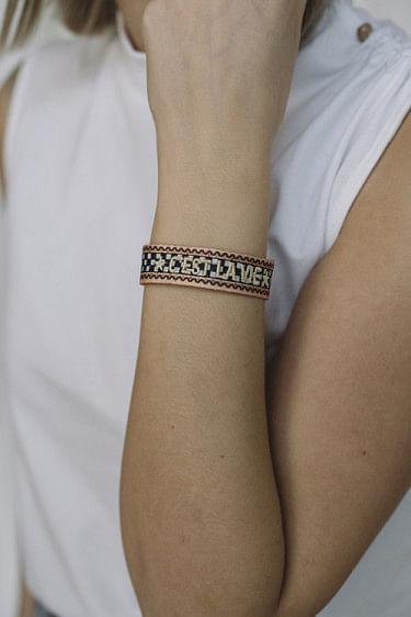 Woven Bracelet C´est La Vie Checkered