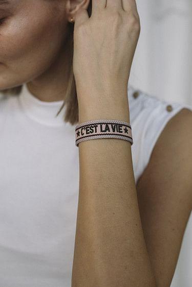 Woven Bracelet C´est La Vie Blush Rose